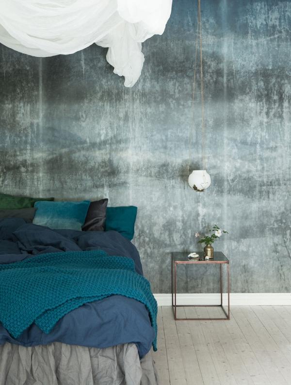idejos miegamojo sienoms
