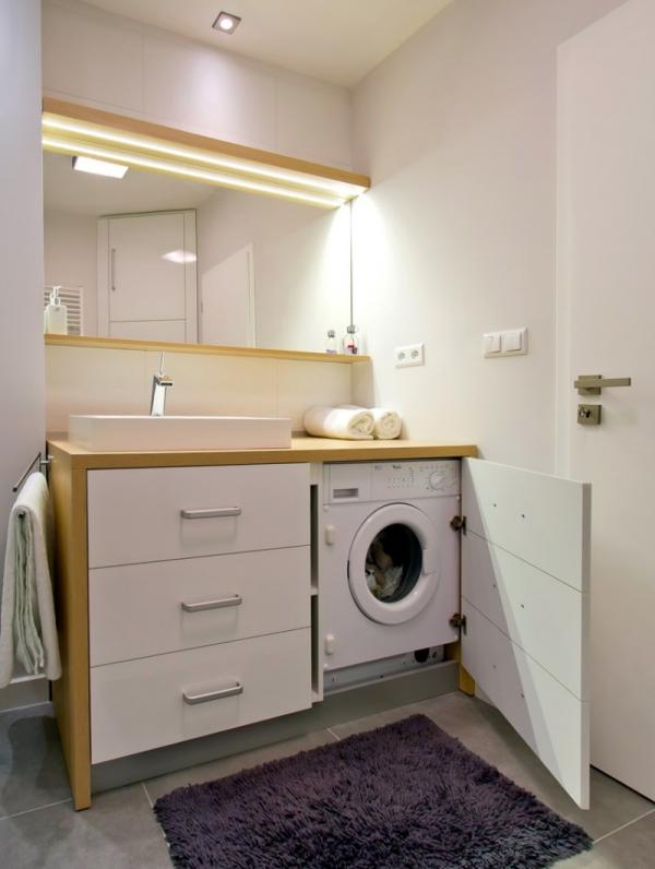 hidden washing mashine