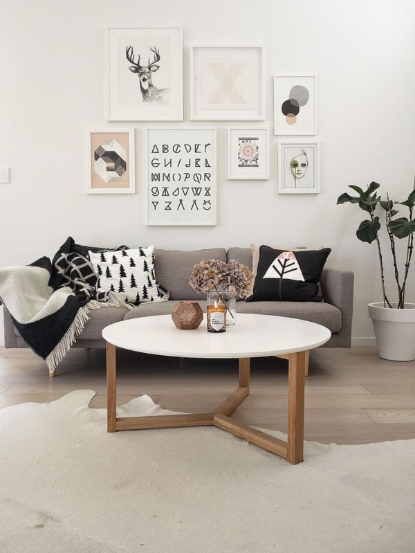 scandinavian living room pictures