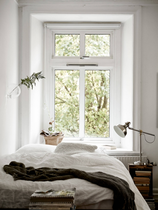 window over the bed