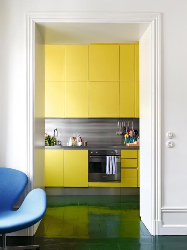 geltona virtuve