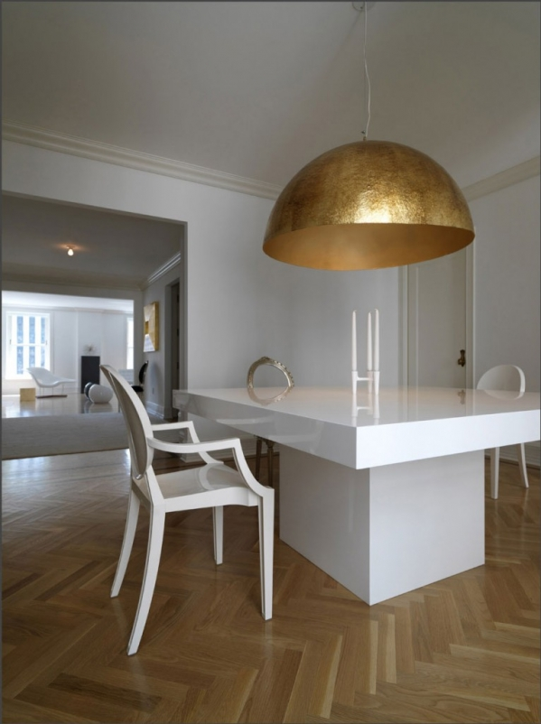 gold lamp shade