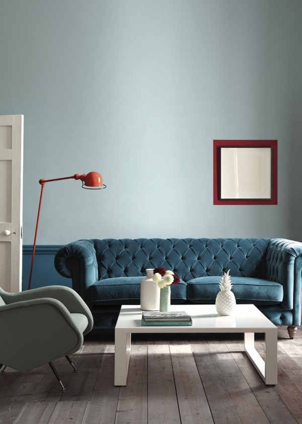 blue chesterfield velvet sofa