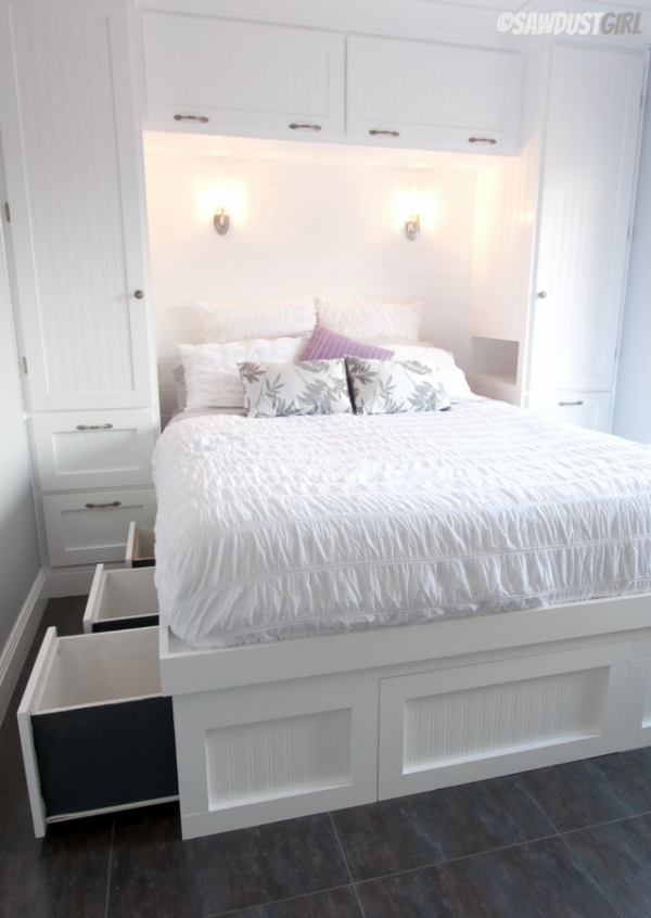 wardrobe over the bed