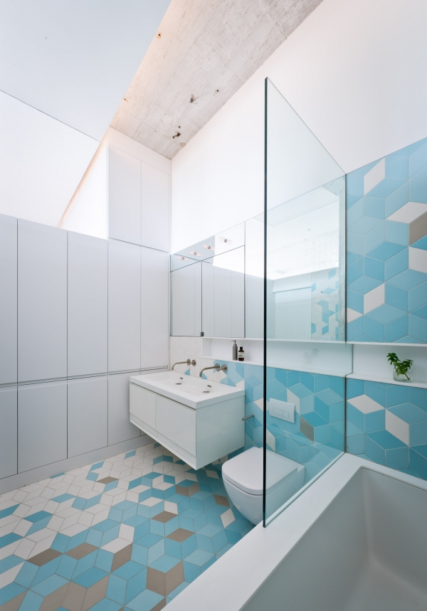 light blue tiles