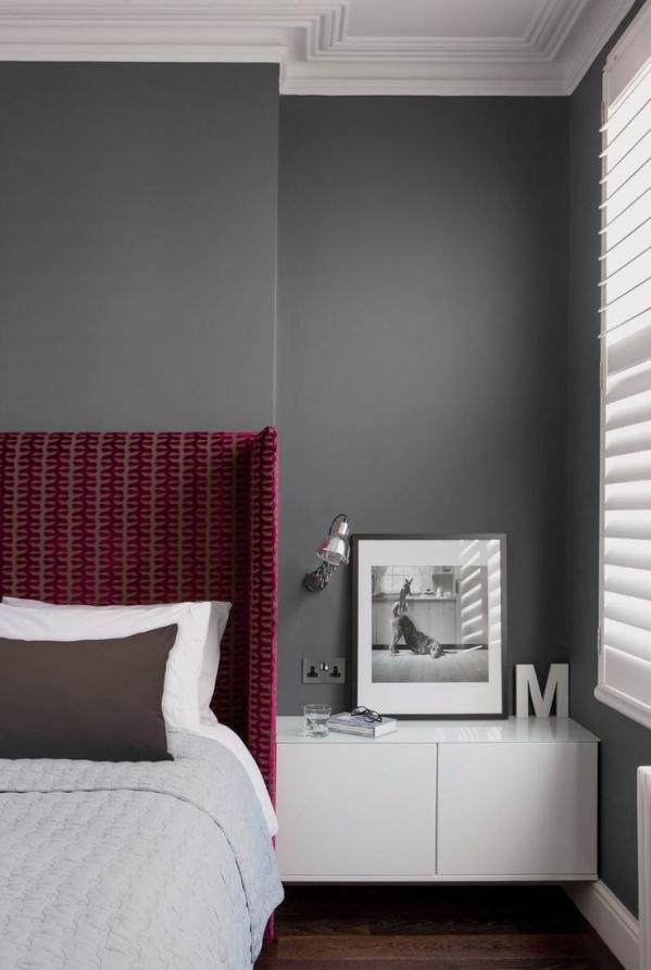 bordo spalva miegamajame
