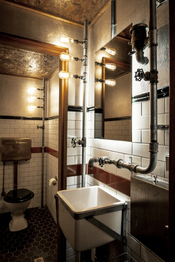 steampunk style bathroom