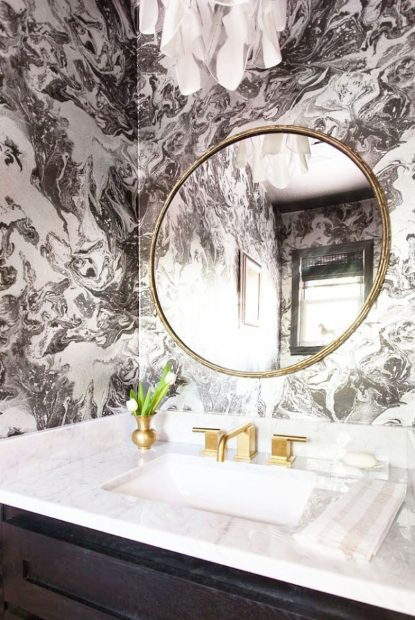 marble bathroom walls