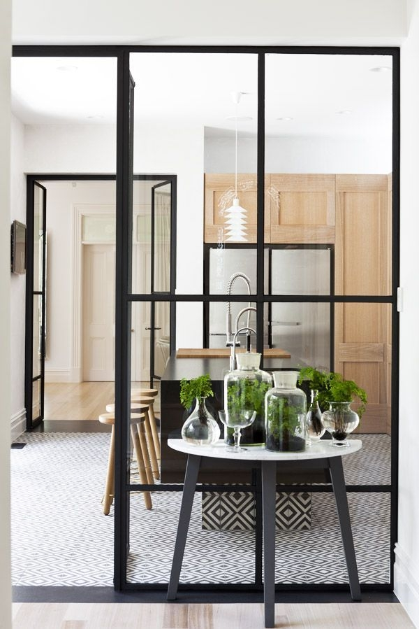 glass partition with frames
