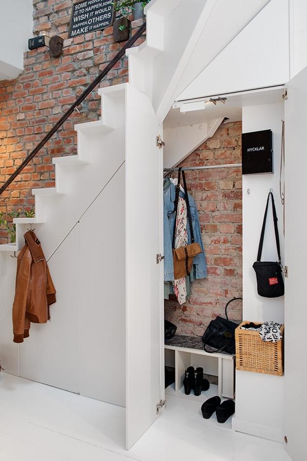 entrance storage under stairs