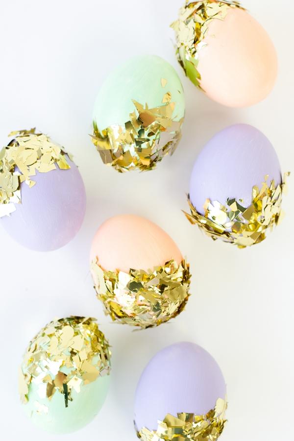 kiaušiniai su konfeti