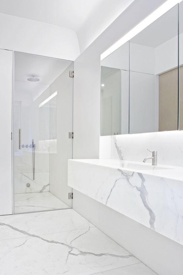marble in bathroom