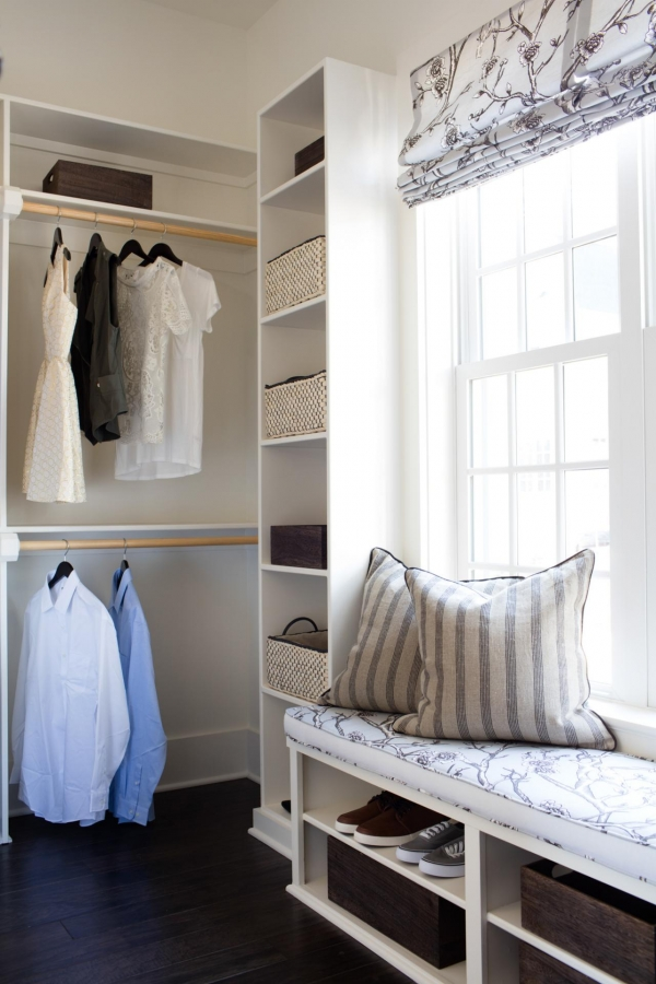 wardrobe with bench