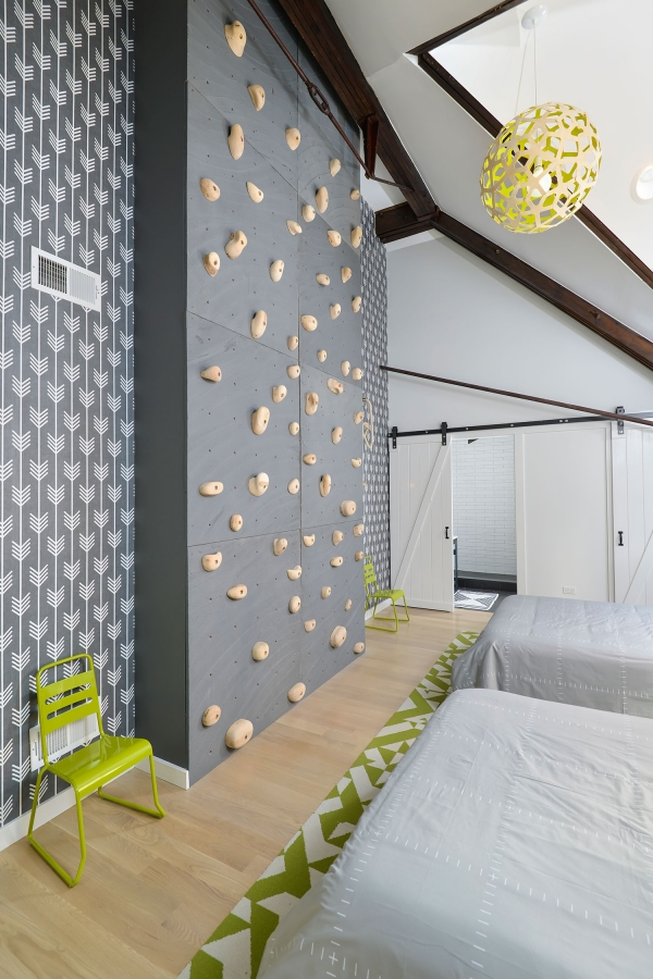 climbing wall interior