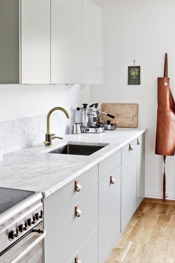 leather kitchen handles