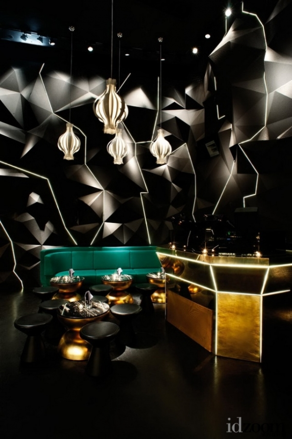 restaurant interior black