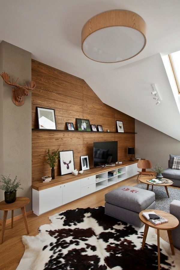 wooden wall living room