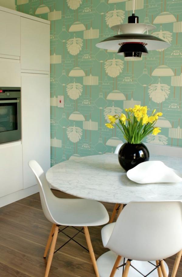 green kitchen walls