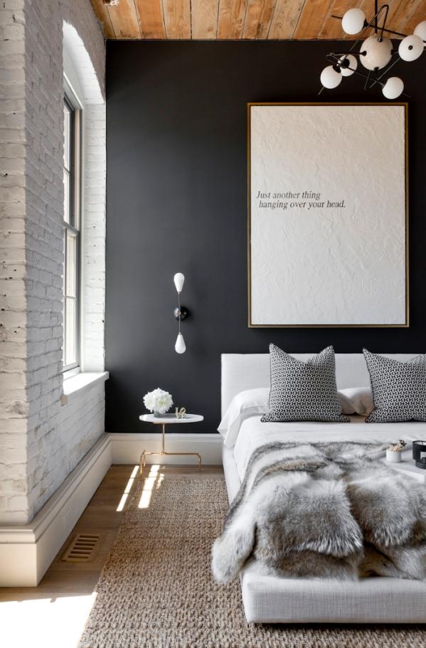 dark wall bedroom