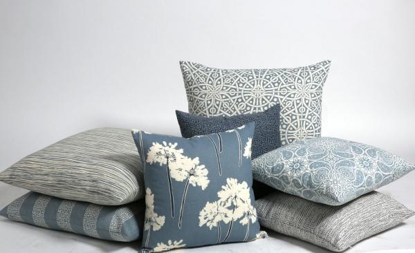 blue shades pillows