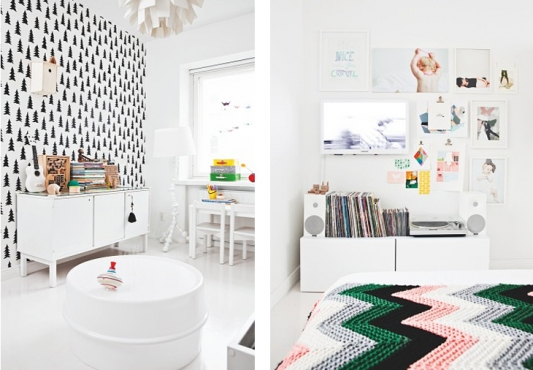 scandinavian room for a child