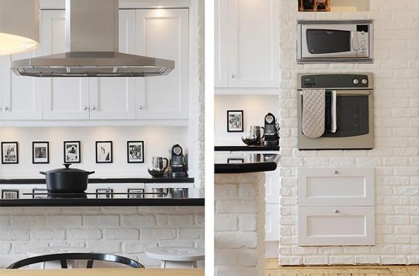 baltos plytos virtuveje