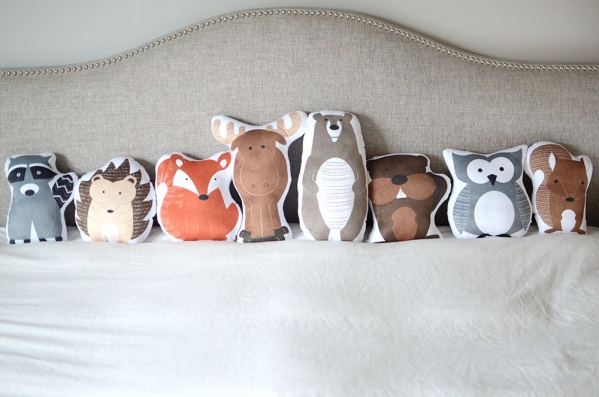 animal-shaped pillows