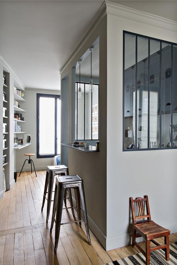 open kitchen glass