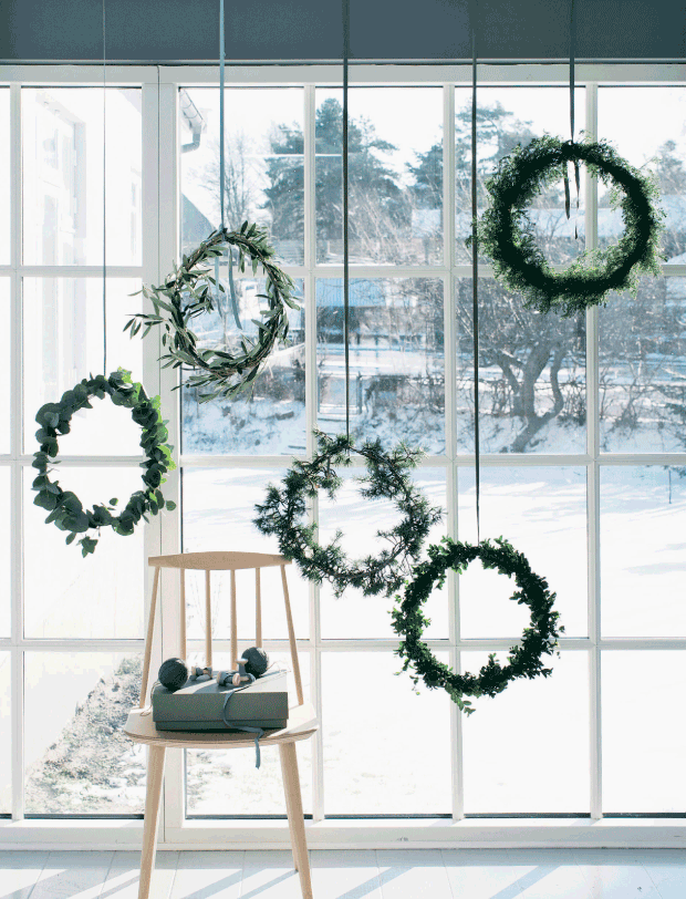 wreaths on the window