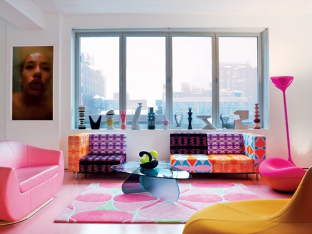very colorful room