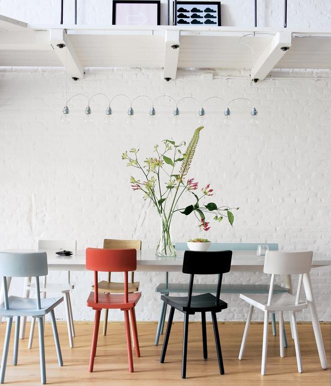 svetainė, baltų plytų siena
