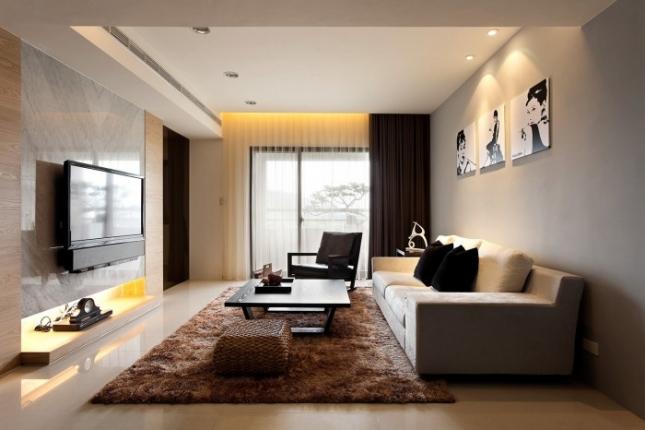 modernus svetainės kambarys
