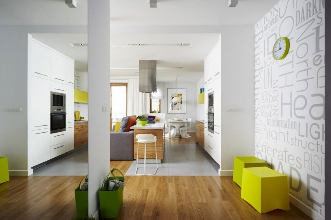 fresh, colorful apartment