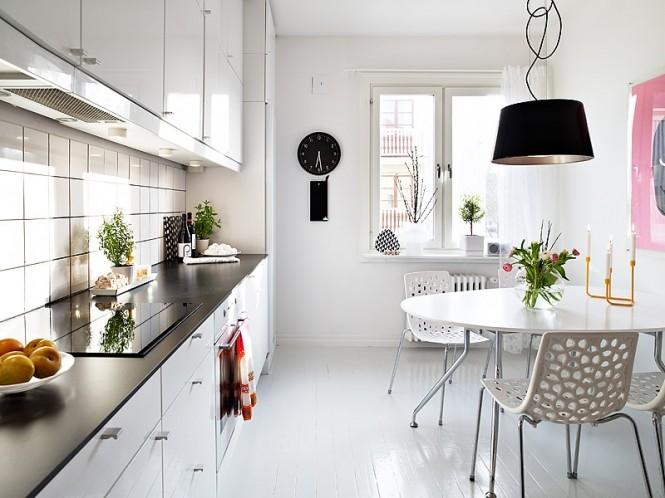 white tiles in kitchen