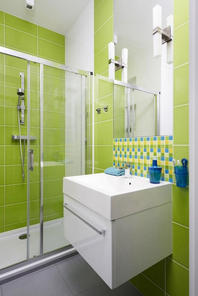 žalias interjeras