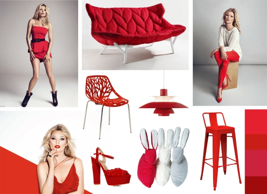 mood board red