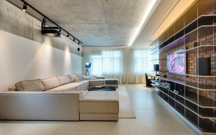 projector in living room