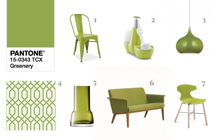pantone 2017 greenery interior design
