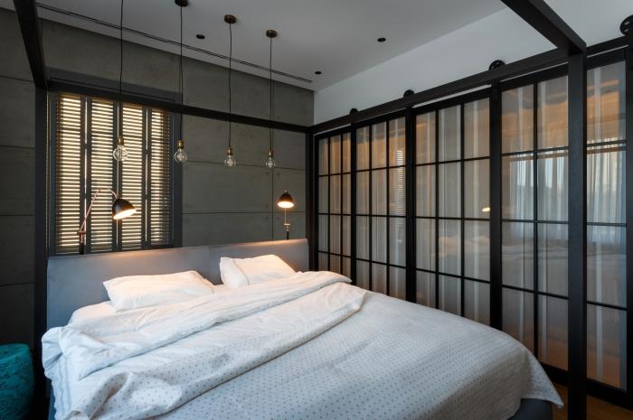 wardrobe in bedroom glass door