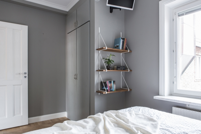 grey bedroom walls