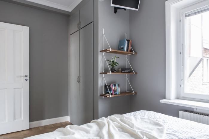 pilkas miegamasis