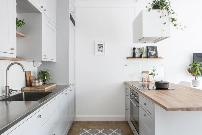 skandinavisko stiliaus mazas butas