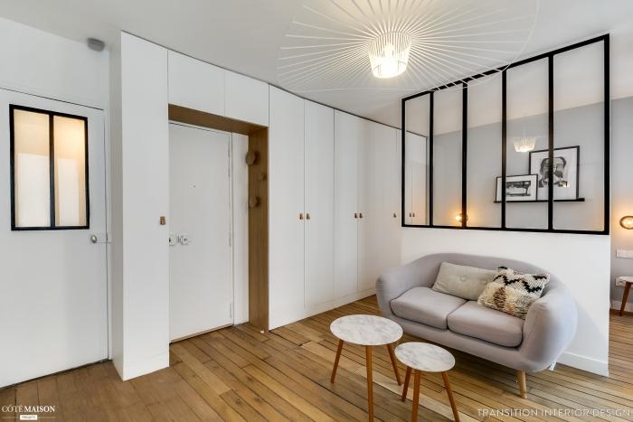 bedroom in living room