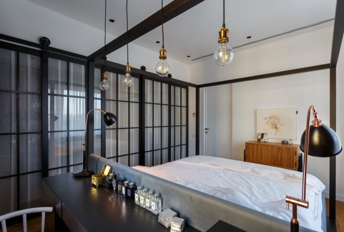 bedroom industrial style