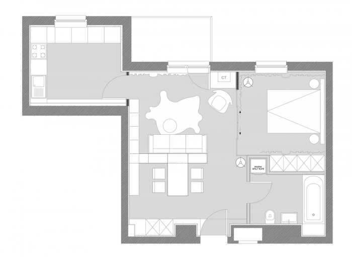 50 sq.m apartment plan