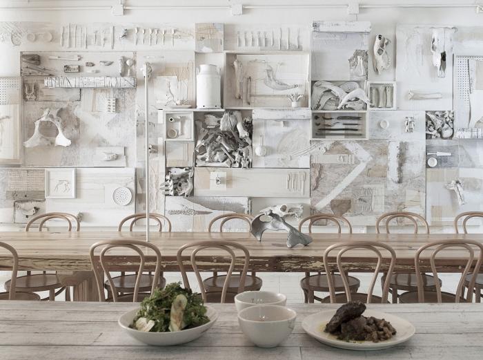 restaurant white wall