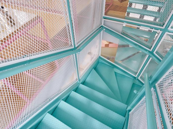 metaliniai zydri laiptai