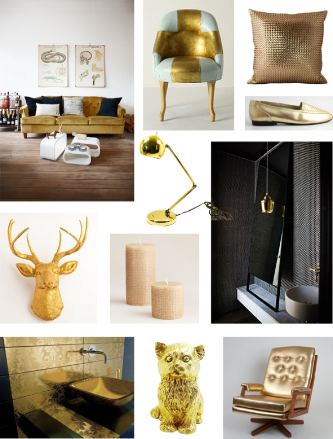 golden mood board