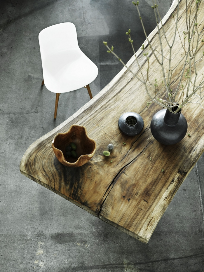 wooden table rustic