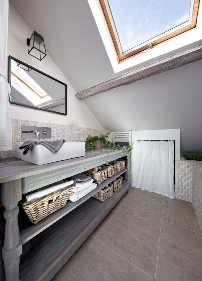 skylight in bathroom